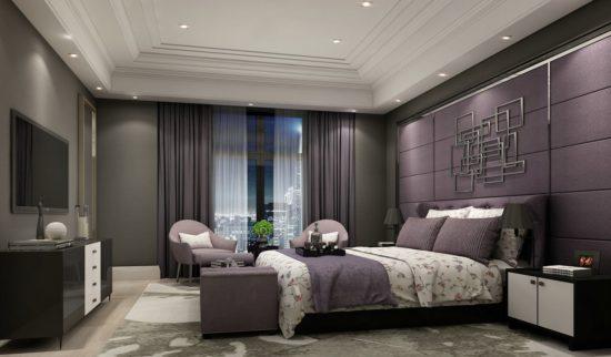Mẫu phòng ngủ tạo nên sự sang trọng và rất quý phái