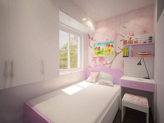 Mẫu thiết kế phòng ngủ nhỏ 5m2 cho bé gái