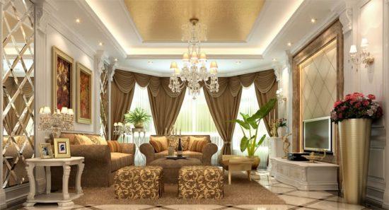 Nội thất cổ điển ưa chuộng đồ dùng nội thất với kích thước lớn và cao cấp