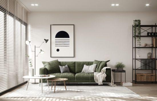 Nội thất Scandinavian chú trọng đến ánh sáng và các chất liệu sử dụng