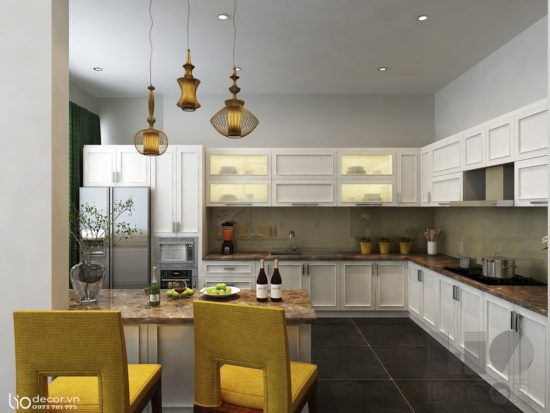 Phòng bếp phong cách tân cổ điển