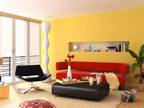Phòng khách hiện đại với những gam màu nổi bật