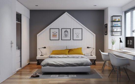 Phòng ngủ hiện đại được tối giản đồ dùng