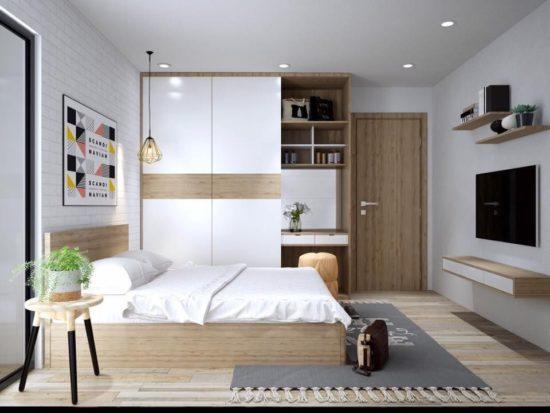 Phòng ngủ hiện đại mang lại không gian thư giãn thoải mái