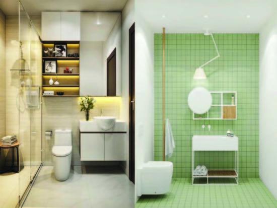 Phòng tắm cần đảm bảo sự tiện nghi và sáng sủa