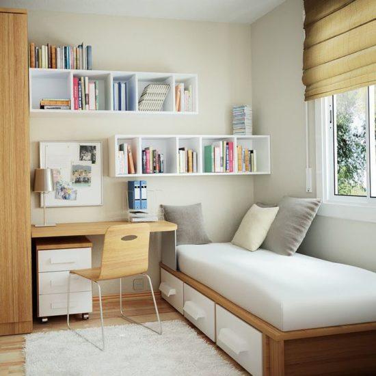 Sắp xếp các nội thất gọn gàng và chỉ dùng nội thất cần thiết