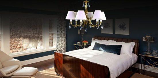 Sử dụng đèn chùm cho phòng ngủ