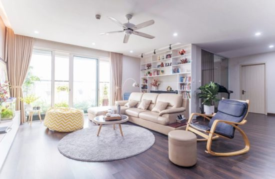 Sử dụng đồ dùng nội thất có gam màu sáng
