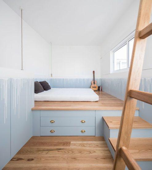 Sử dụng giường đa năng để tiết kiệm không gian