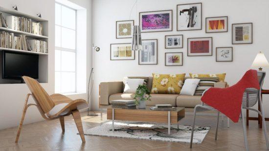Sử dụng những gam màu tươi sáng cho nội thất hiện đại