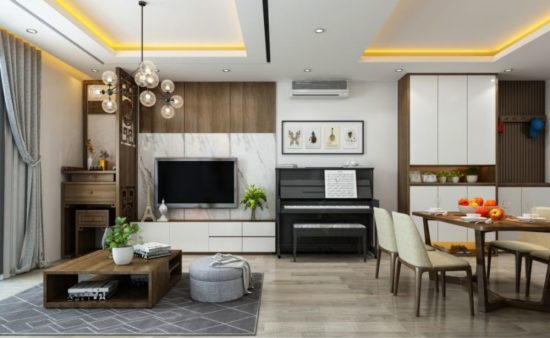Tạo điểm nhấn cho nội thất chung cư 70m2