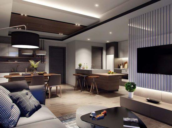 Tạo không gian xanh cho nội thất chung cư 60m2
