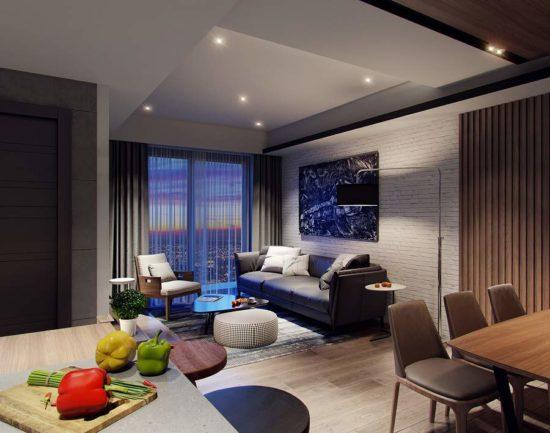 Thiết kế nội thất chung cư 60m2 theo phong cách hiện đại