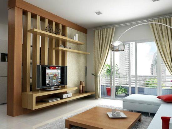 Vách ngăn bằng chất liệu gỗ công nghiệp