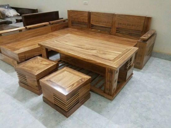 Bộ bàn ghế phòng khách làm từ gỗ