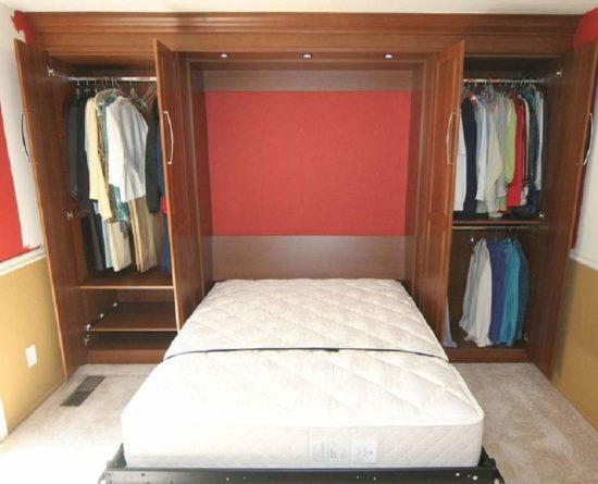 Giường ngủ kết hợp với tủ quần áo