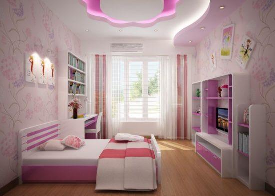 Lựa chọn tone màu hồng cho nội thất phòng ngủ của các bé gái
