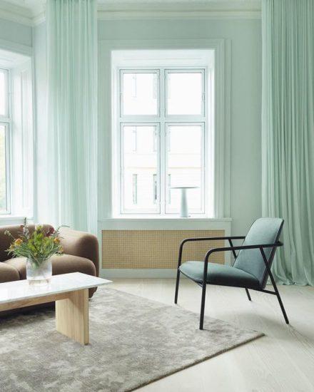 Màu bạc hà mang đến cho không gian cảm giác dễ chịu và rất thư giãn