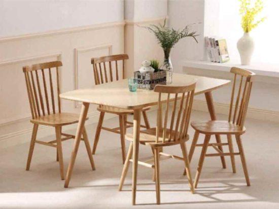 Mẫu bàn ăn 4 người được thiết kế tinh tế