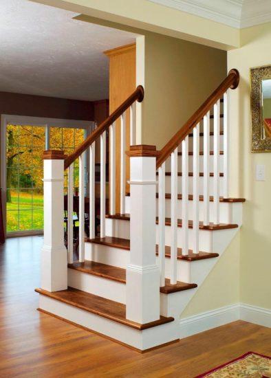 Mẫu cầu thang gỗ đẹp cho không gian thêm sang trọng, lịch sự