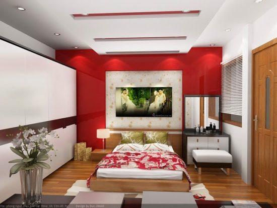 Mẫu trần thạch cao chung cư cho phòng ngủ master