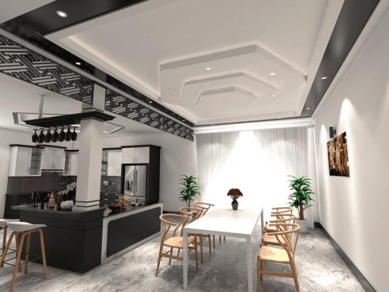 Mẫu trần thạch cao phòng bếp cho không gian thêm sang trọng và đẹp
