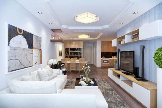 Mẫu trần thạch cao phòng khách đẹp và sáng sủa