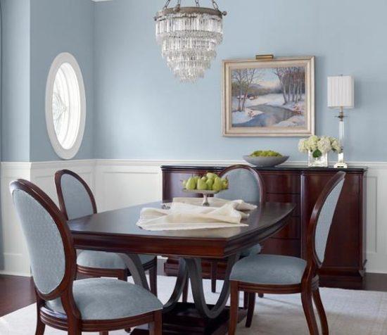 Màu xanh biển nhạt mang đến cảm giác nhẹ nhàng và rất mềm mại