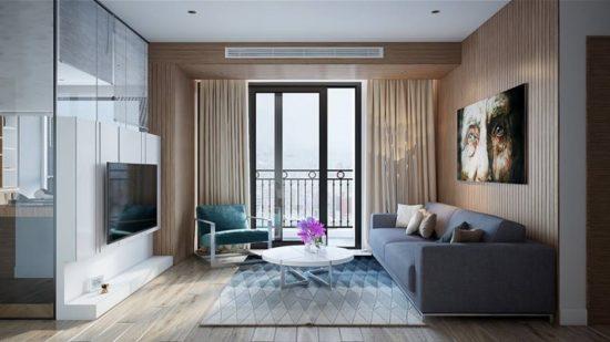 Phòng khách chung cư phong cách hiện đại mang đến sự tinh tế và nhã nhặn