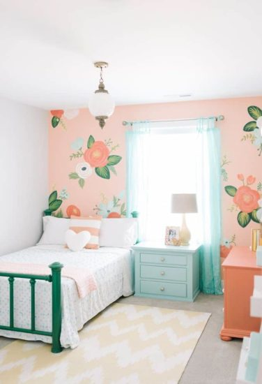 Phòng ngủ chung cư hiện đại cho bé gái