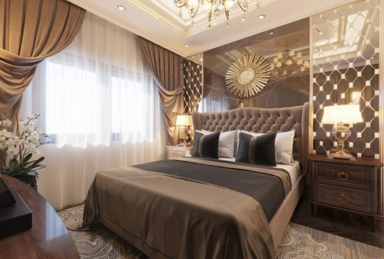 Phòng ngủ master trong biệt thự rất sang trọng