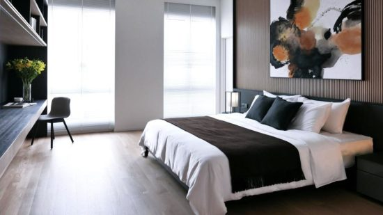 Phòng ngủ phong cách này thường mang đến cảm giác thoải mái, thư giãn