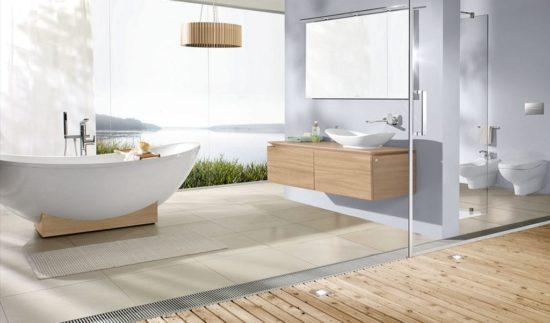 Phòng tắm cực đẹp với sắc trắng và nội thất mở