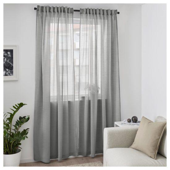 Rèm cửa mỏng phù hợp cho các phòng ở nơi ít ánh sáng