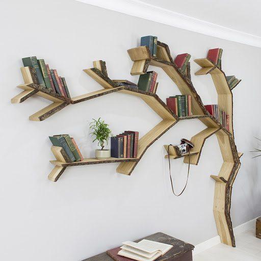 Thiết kế kệ sách dạng cây