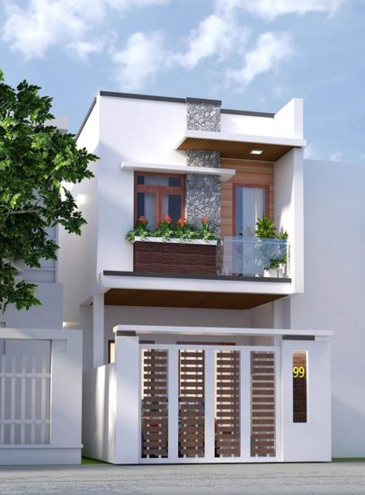 Thiết kế nhà phố với mặt tiền 4m hiện đại và rất sang trọng
