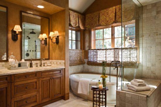 Thiết kế nội thất phòng tắm theo phong cách cổ điển sang trọng