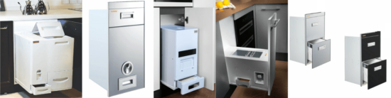 Thiết kế thùng đựng gạo âm tủ cho bếp hiện đại