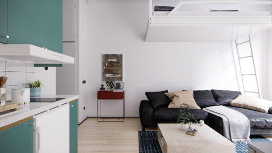Tối ưu hoá được diện tích và công năng sử dụng đối với các căn hộ nhỏ