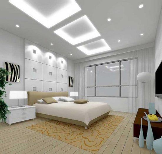 Trần thạch cao phòng ngủ ấn tượng