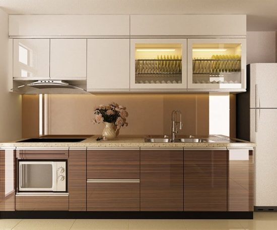 Tủ bếp gỗ công nghiệp cho chung cư