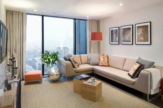 Tuỳ vào diện tích của căn hộ để lựa chọn kích thước nội thất cho phù hợp
