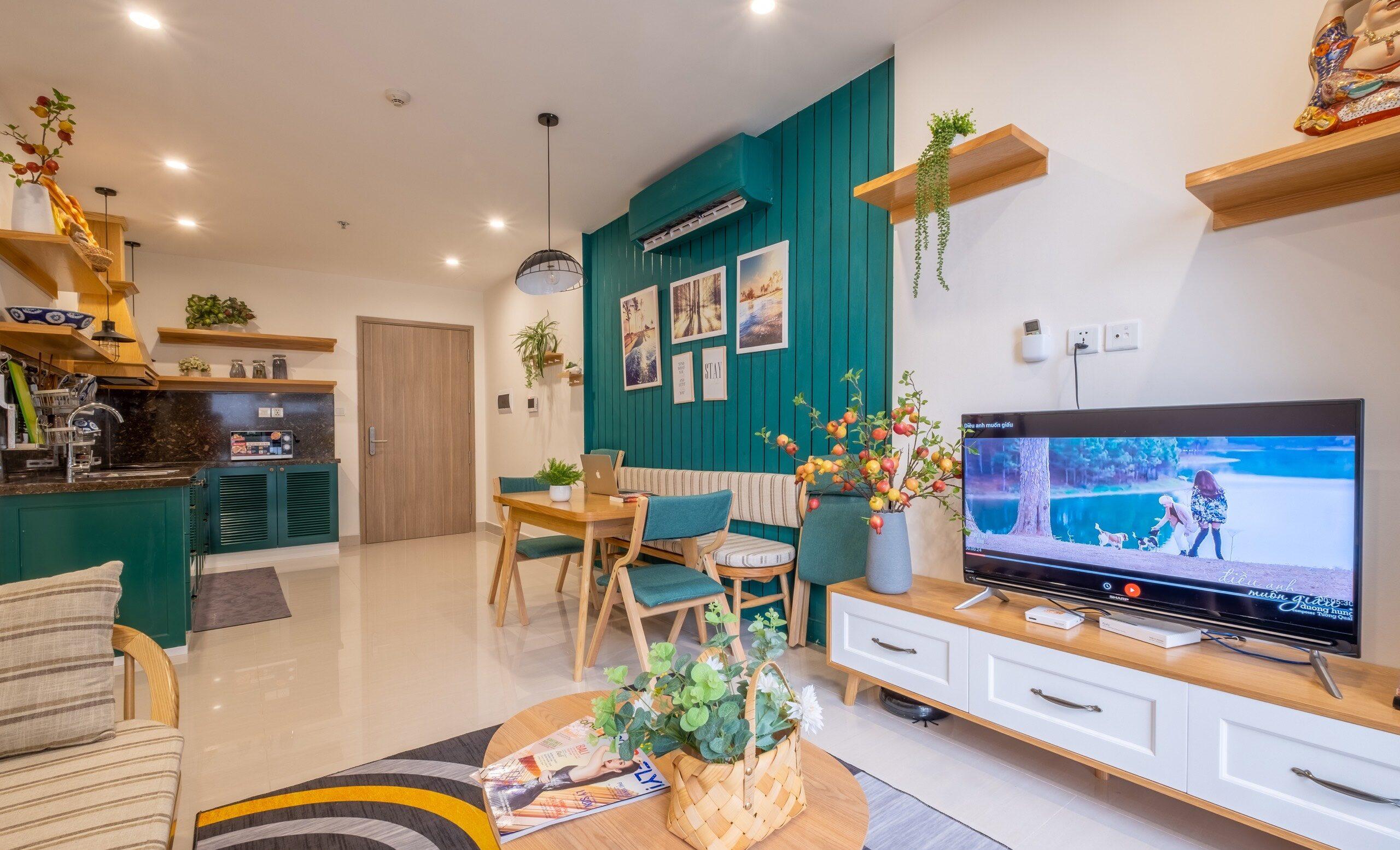 thiết kế nội thất ngôi nhà kết hợp với cây cảnh trang trí